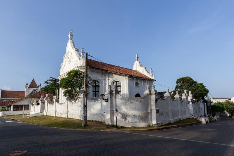 Église reformée néerlandaise dans le fort de Galle, Sri Lanka photographie stock