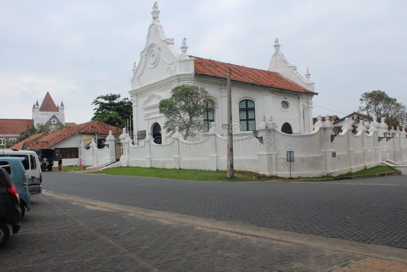 Église reformée par Néerlandais dans le fort de Galle photographie stock