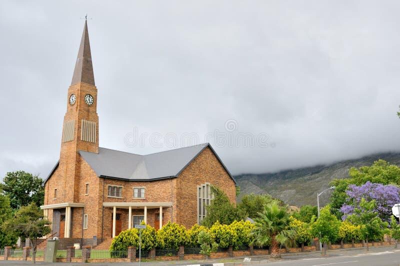 Église reformée par Néerlandais, Villiersdorp image stock
