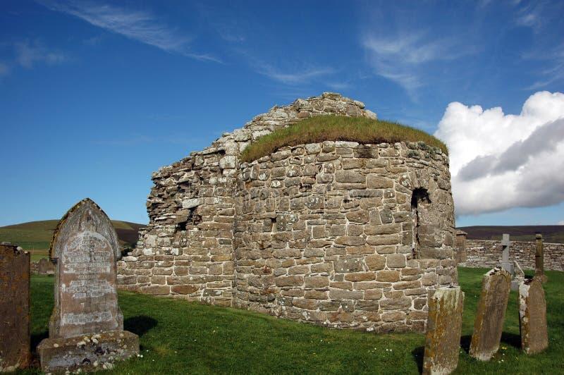Église ronde chez Orphir, Orkney, Ecosse images libres de droits