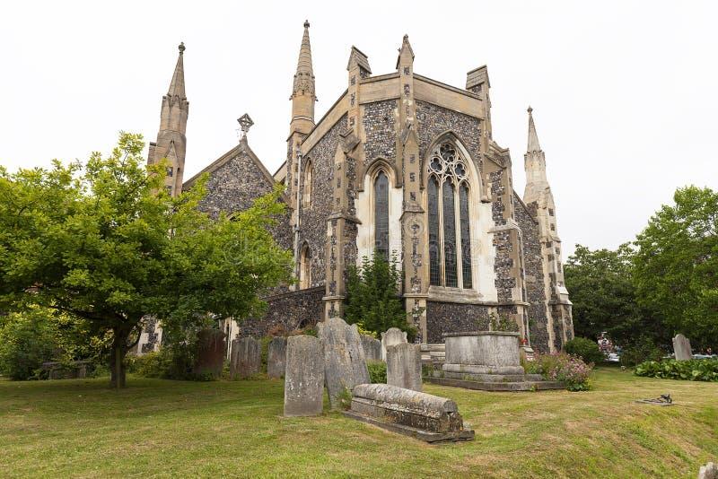 Église roumaine du 12ème siècle de style de St Mary la Vierge, Douvres, Royaume-Uni photo stock
