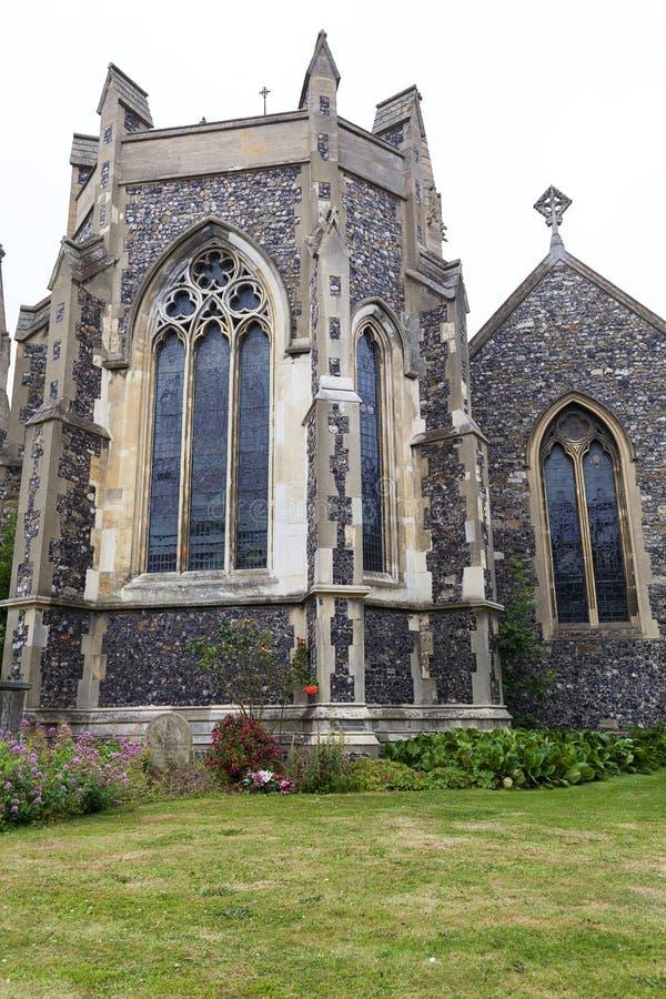 Église roumaine du 12ème siècle de style de St Mary la Vierge, Douvres, Royaume-Uni photographie stock