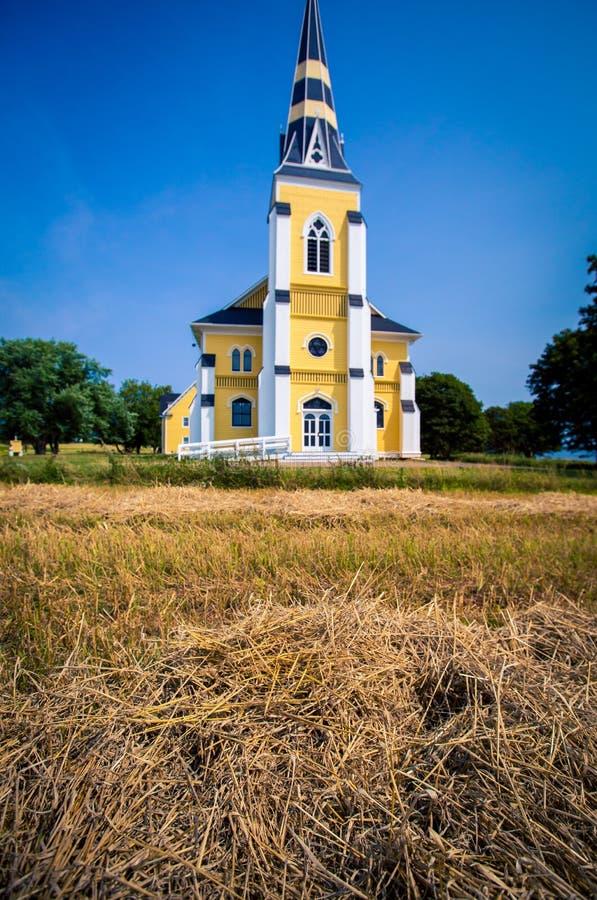 Église rurale dans prince Edward Island images libres de droits