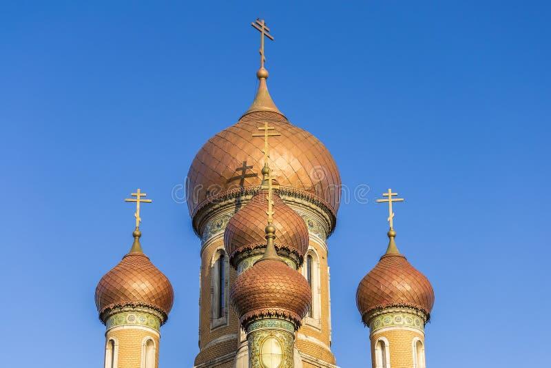 Église russe à Bucarest photo stock