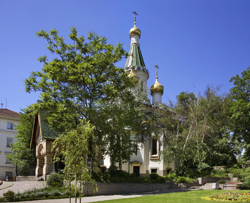 Église russe de Saint-Nicolas le Miracle-fabricant à Sofia bulgaria image stock