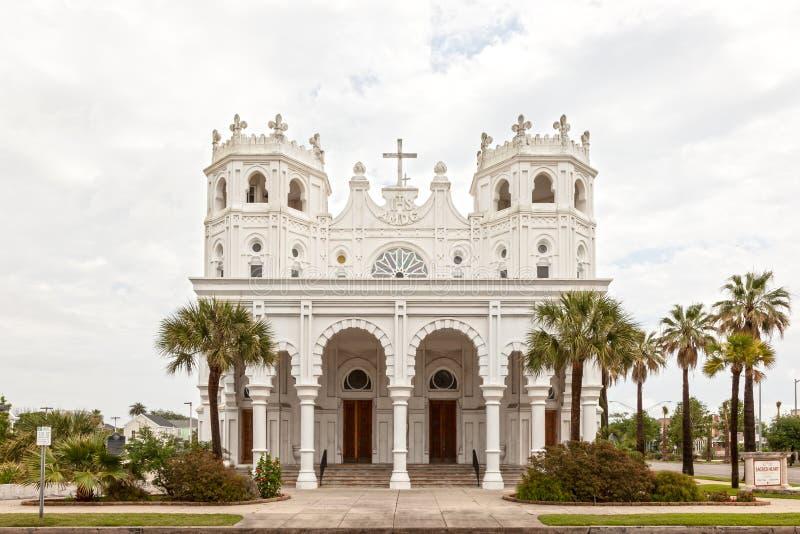 Église sacrée de coeur dans Galveston, le Texas photo libre de droits