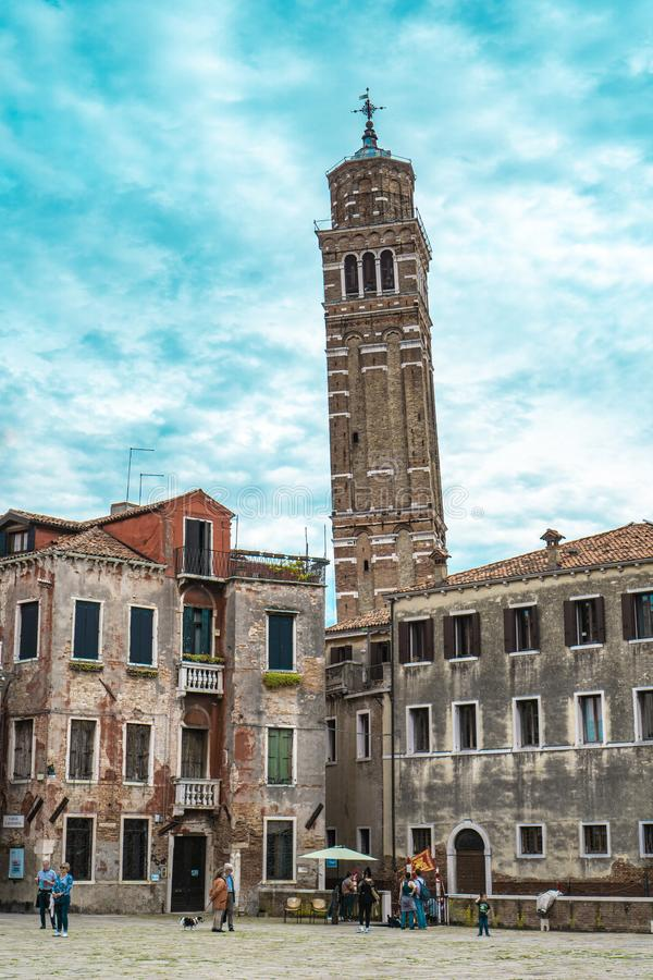 Église Saint-Étienne de Venise, Italie photographie stock