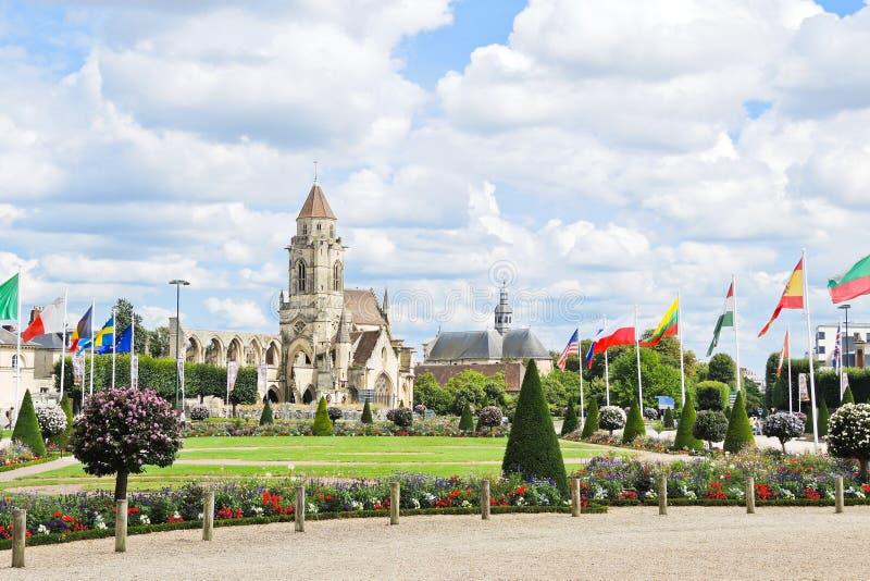 Église Saint-Etienne-le-vieux à Caen, France photos stock