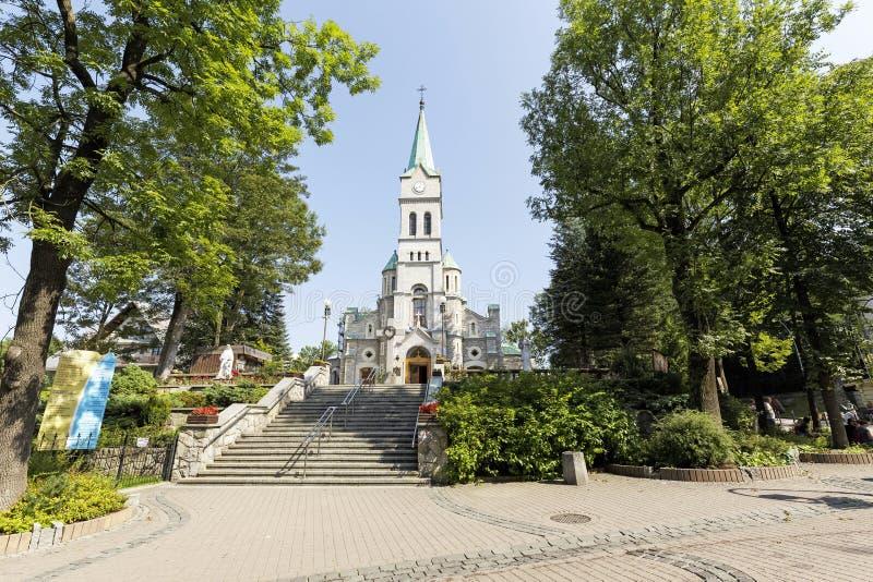 Église sainte de famille dans Zakopane photo libre de droits