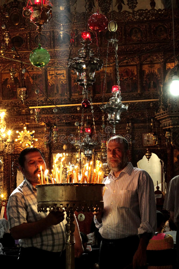 Église sainte de la nativité Bethlehem Israël photo stock