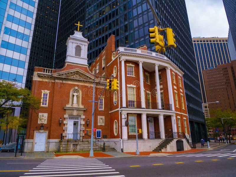 Église Sainte-Elizabeth Ann Seton à Manhattan (New York) États-Unis d'Amérique images libres de droits