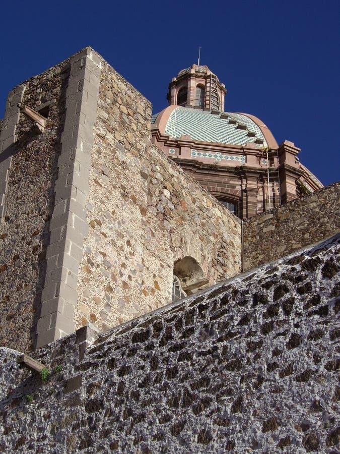 Église-San catholique Miguel de Allende image libre de droits