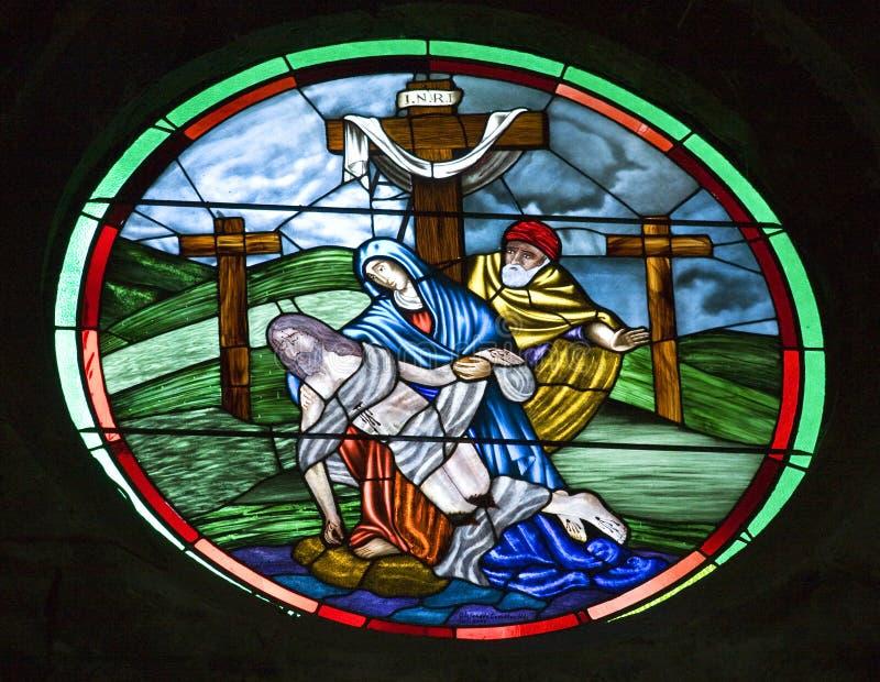 Église San Miguel Mexic d'archange en verre souillé photo libre de droits