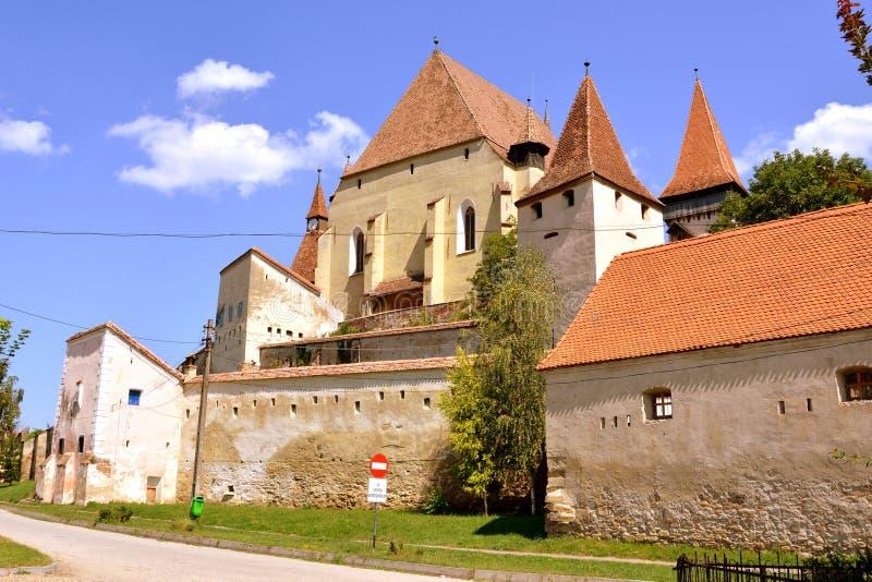 Église saxonne enrichie Biertan, la Transylvanie photographie stock libre de droits
