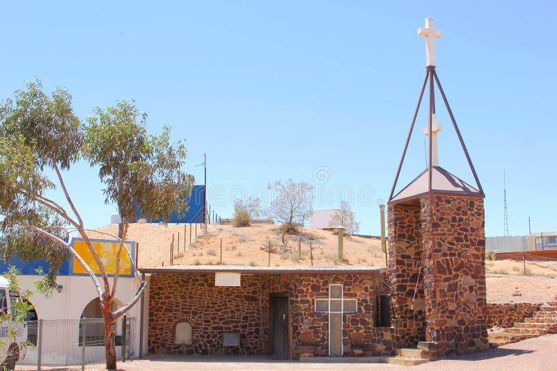 Église souterraine, Coober Pedy, Australie images stock