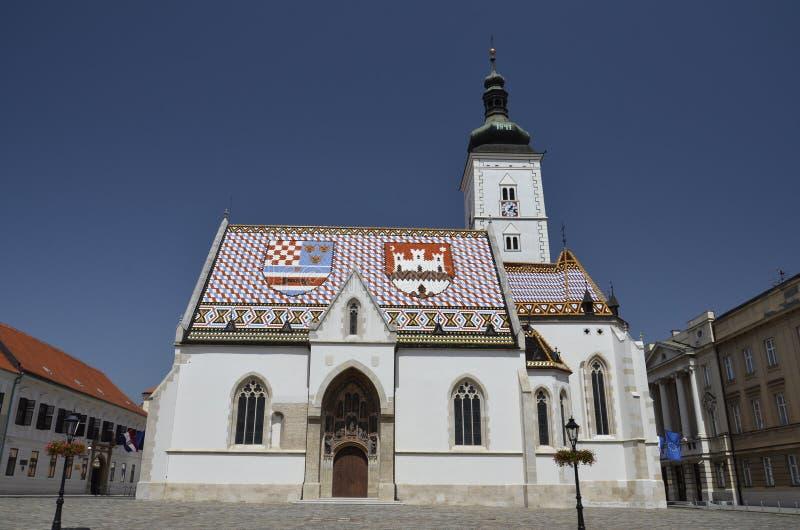 Église St Mark, Zagreb 3 images stock