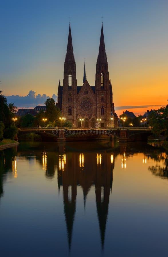 église Strasbourg image libre de droits