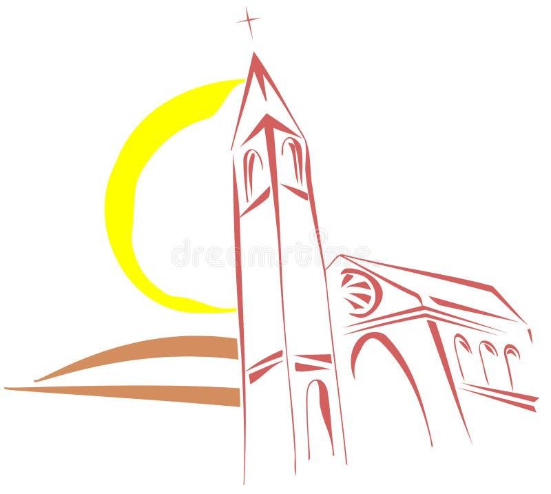 Église stylisée illustration de vecteur