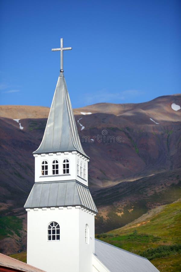 Église sur l'Islande photographie stock libre de droits