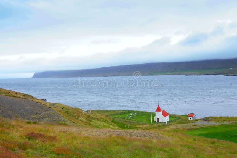 Église sur l'Islande images libres de droits