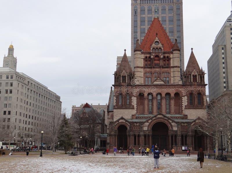 Église Trinity, Boston photos stock