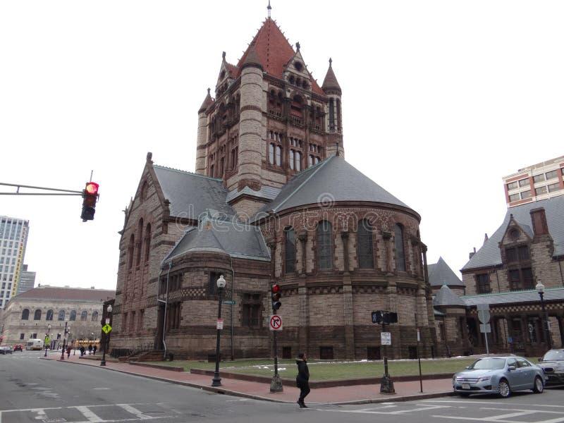 Église Trinity, Boston photos libres de droits