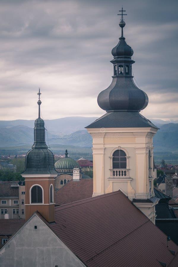Église Trinity sainte à Sibiu image libre de droits