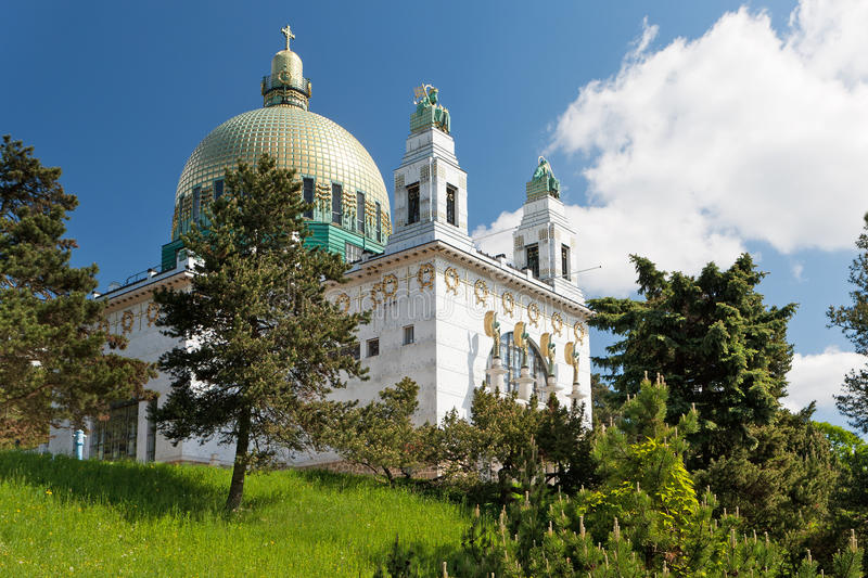 Église Vienne d'Otto Wagner photographie stock