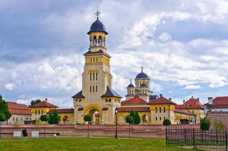 Églises d'Alba Iulia, Roumanie photo stock