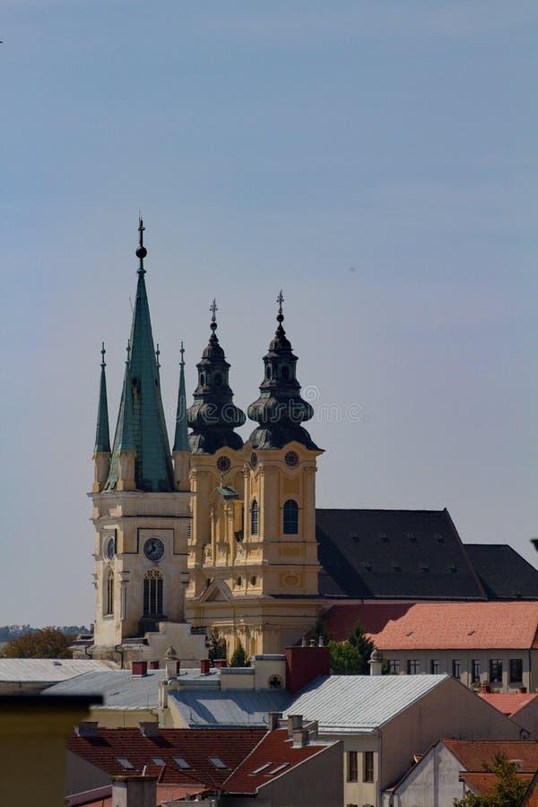 Églises dans Nitra, Slovaquie, l'Europe photos stock