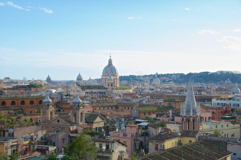 Panorama Italie de Roma Pincio Veduta de paysage photo libre de droits