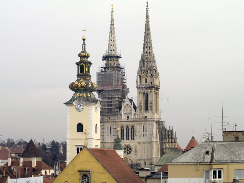 Églises de Zagreb photographie stock