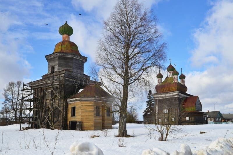 Églises en bois photographie stock
