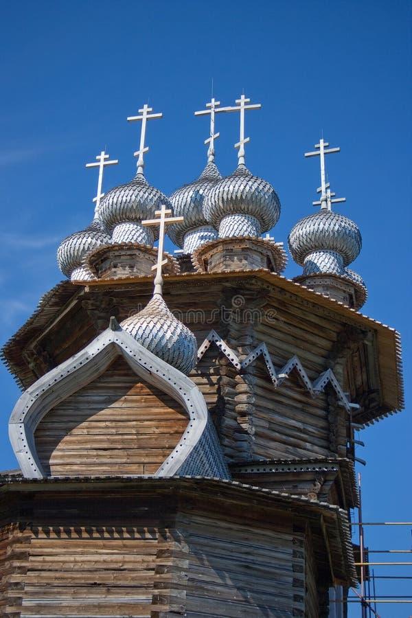 Églises en bois sur l'île Kizhi image stock