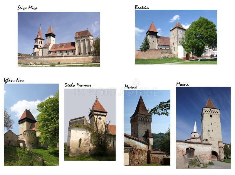 Églises enrichies (collage) photos libres de droits