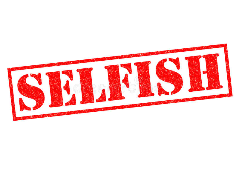 égoïste illustration libre de droits
