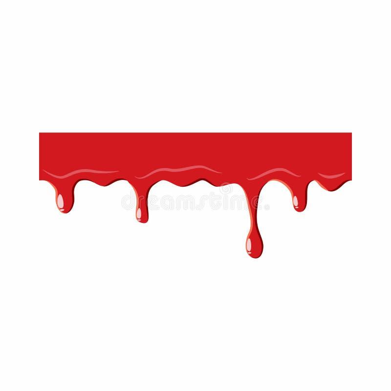 Égouttement en bas de l'icône de sang illustration libre de droits