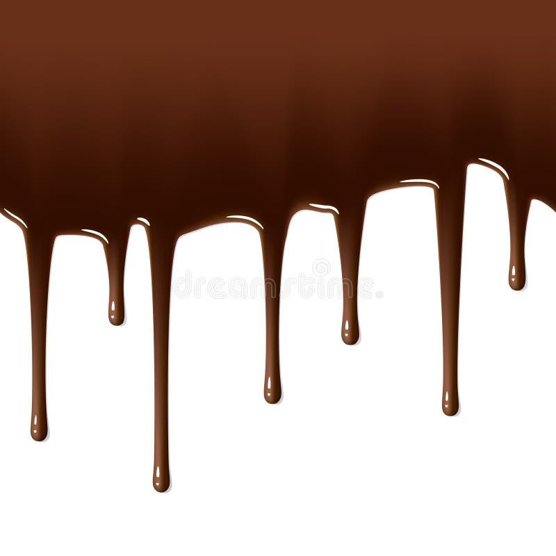 Égouttements de chocolat chaud. Illustration sans joint. illustration de vecteur