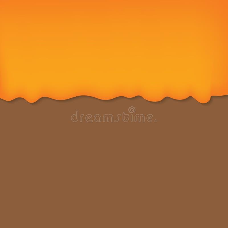 Égouttements de miel illustration de vecteur