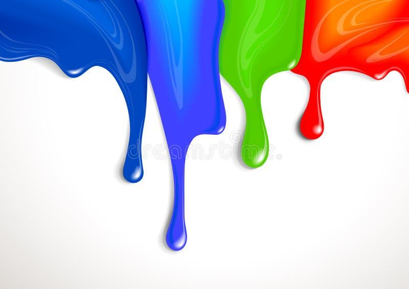 Égouttements de peinture illustration de vecteur