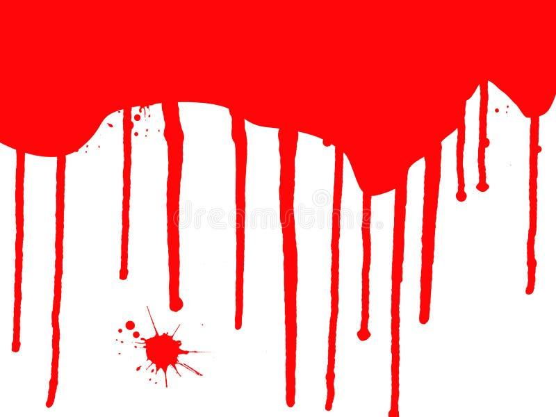 Égouttements de sang illustration de vecteur