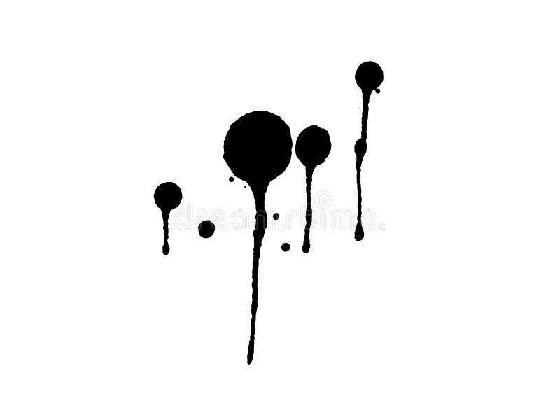 Égouttements grunges 5 d'éclaboussure illustration stock