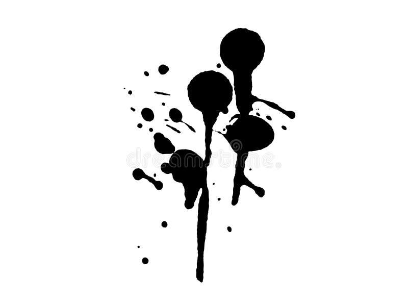 Égouttements grunges 20 d'éclaboussure illustration stock