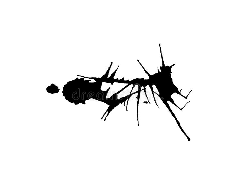 Égouttements grunges 19 d'éclaboussure illustration libre de droits