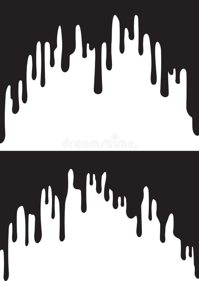 Égouttements noirs de peinture Illustration de vecteur pour votre eau doux de design illustration de vecteur