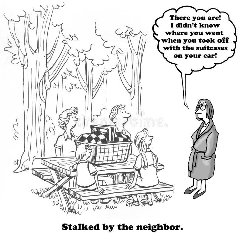 Égrappé par le voisin illustration libre de droits