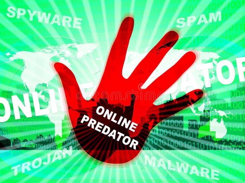 Égrappage prédateur en ligne contre illustration de victime inconnue la 2d illustration libre de droits