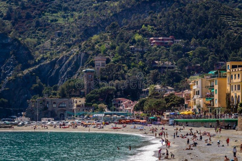Égua do al de Monterosso, Cinque Terre, Itália fotografia de stock