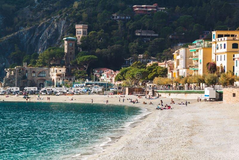 Égua do al de Monterosso, Cinque Terre, Liguria, Itália imagem de stock royalty free