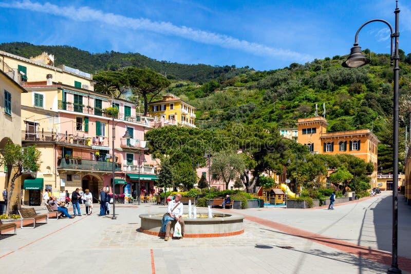 Égua do al de Monterosso, uma vila litoral e recurso em Cinque Terre imagem de stock